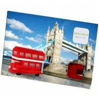 [220.035] Postcard Red Tour Bus - Postal Bus Turístico de Londres