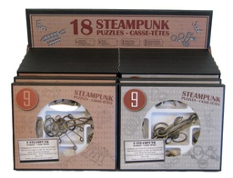 [473205] Display with 16 Steampunk Puzzles Sets (9 Bronze Puzzles) - Expositor Surtido 16 sets de 9 Bronce Puzzles
