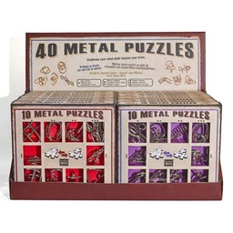 [473355] Display with 16 Metal Puzzles Sets (10 Metal Puzzles) - Expositor Surtido 16 sets de 10 Metal Puzzles